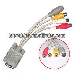 rca vga cable/ vga rca cable