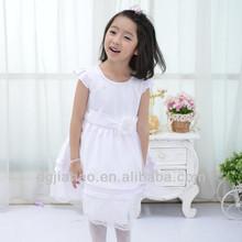 white elegant lace bottom kids fancy dress photos