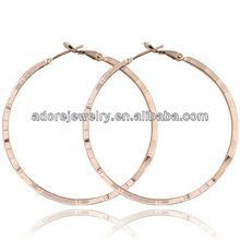 Wholesale fashion women accessories golden bamboo hoop earrings