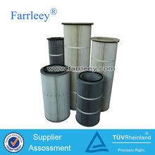 Vacuum convey machine dust collector air filter cartridge,three or four ears Spun bonded polyester air filter cartridge supplier