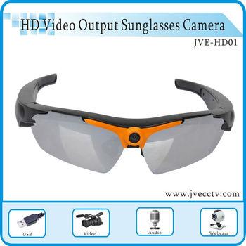 JVE-HD01 720P video glasses Hd sunglasses camera new glasses camera CE RoHS FCC Approval