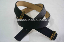 The Black Lady Belts In PU With Leather backing Buckle In Gold Color