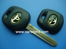 High quality Toyota transponder key shell blank casing cover with toy43 blade for whalesale