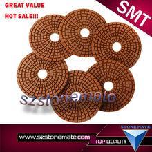 Flexible Velcro Back Granite Diamond Polishing Pads