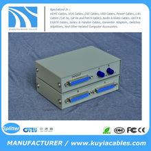 Manual 2 Port 25 Pin DB-25 Parallel Printer Sharing Switch Box