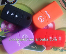 2013 Custom factory price silicone car key cover with brand logo for Buick/BMW/Benz/Toyota/Nissan/Ford/Hyundai etc