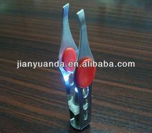 Newest Stainless steel LED eyebrow tweezer