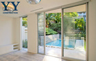 aluminium sliding door pictures with glass louvre on sider with Australia standard 2047