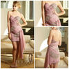 2013 Welcomed sheath sweetheart neck beaded crystals chiffon pink cocktail party dresses cd032