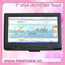 "7"" HDMI vga tft lcd touchscreen car pc monitor with av input"