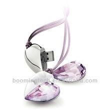 Crystal 1-64gb Heart Shape USB gifts