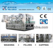 Bottled drink washing filling and sealing machine
