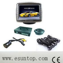 Hot 4 sensors 3.5 inch Mirrior Digital TFT buzzer Car Camera Parking Sensor System with CE and ROSH
