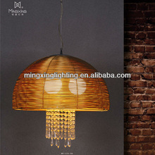 Mingxing Aluminum modern pendant lamp with crystal MD11018-3