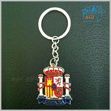 Espana feature tourism souvenir keychain custom metal keyring