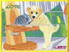 Amblemi köpek/nakış köpek tasarım/nakış köpek yama