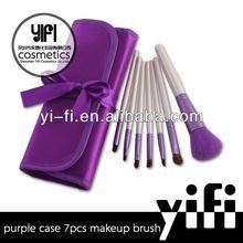Hot Sale! Purple Case 7pcs Makeup Brush set color shine makeup brushes new item make up brush
