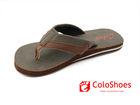 nude summer leather flip flop for men