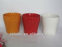 ceramic flower pot with solid color,beautiful color flower pot