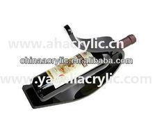 acrylic wine bottle display holder,acrylic display stand for wine