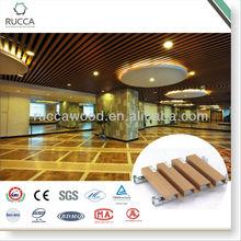 WPC/Fauxwood Indoor Suspended Ceiling Designs 40*25cm