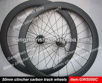 bicycle parts carbon bike 50mm clincher wheels track bike wheels fixed gear