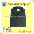 camisa de hombre con sólido de color de alta calidad de algodón camisa