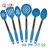Set of 6PCS Blue Kitchen Cooking Tools With Stainless Steel Handle
