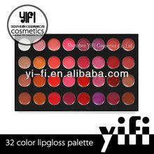 Atacado! Maquiagem 32 cores lip gloss palette lip gloss morango )