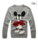 fashion crew neck mickey mouse mens cartoon sweater