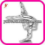 Winning gymnast pendant charm,sports charm