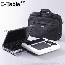Foldable adjustable laptop desk with aluminum legs