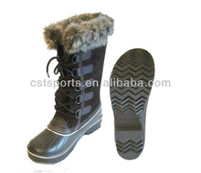 China New Designer Brand black snow boots with fur men