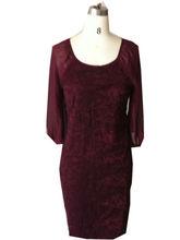 High Quality OEM 90% nylon kintted Fashion lace dress