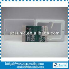 promotion gift 16gb plastic card usb