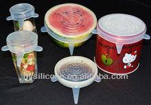 Reusable Silicone Fresh Seal,Set of 5,Keeps Food Fresher Longer.