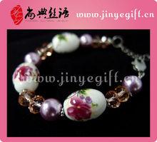 Craft Stainless Steeling Chinese Novelties Ceramic Beads Motif Jewelry