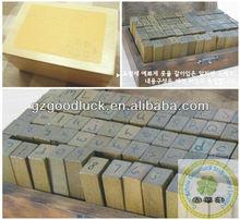 New uppercase&lowercase alphabet stamp supplies/New wooden case alphabet stamp set supplies