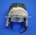 Usurainverno russo trapper cappelli con foderain pelliccia( nero)