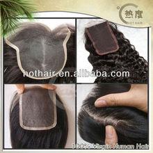 Super natural looks peruvian virgin hair silk base hair closures in stock