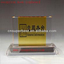 Desktop acrylic reception signboard