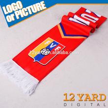 Hot Sell Promotion polyester Designer hijab scarf for 2014 Brasil& Brazil World Cup