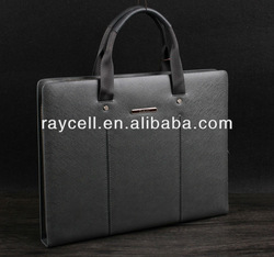 2013 hot sale Geunine leather men's briefcase, men's business leather breifcase for man with factory price