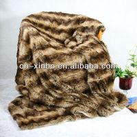 Faux fur polar fleece blanket tiger 2013 hot animal printed