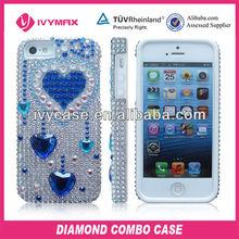 luxury diamond mobile phone case for iphone 5 defender case