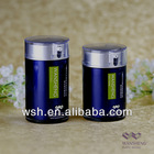 30ml,50ml acrylic airless bottle with body sprayed in blue