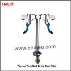 Pedestal Push Back Single Glass Filler For Restautant,Hotel Or Bar Service