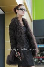 Ladies' Fashion Double Face Sheep Shearing Fur Coat (Fur Garment)