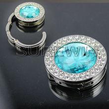 SW-0598 bule crystal bag hook /bag hook holde / magnetic bag holder