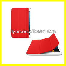 Smart Cover for iPad mini Ultra Slim Tri fold Magnetic Leather Case Wholesale Cheap Smart Cases Covers red